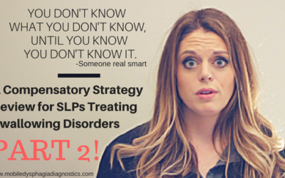 Don't hand out thickened liquids like Oprah (A Compensatory Strategy Review for Swallowing Disorders Part 2)