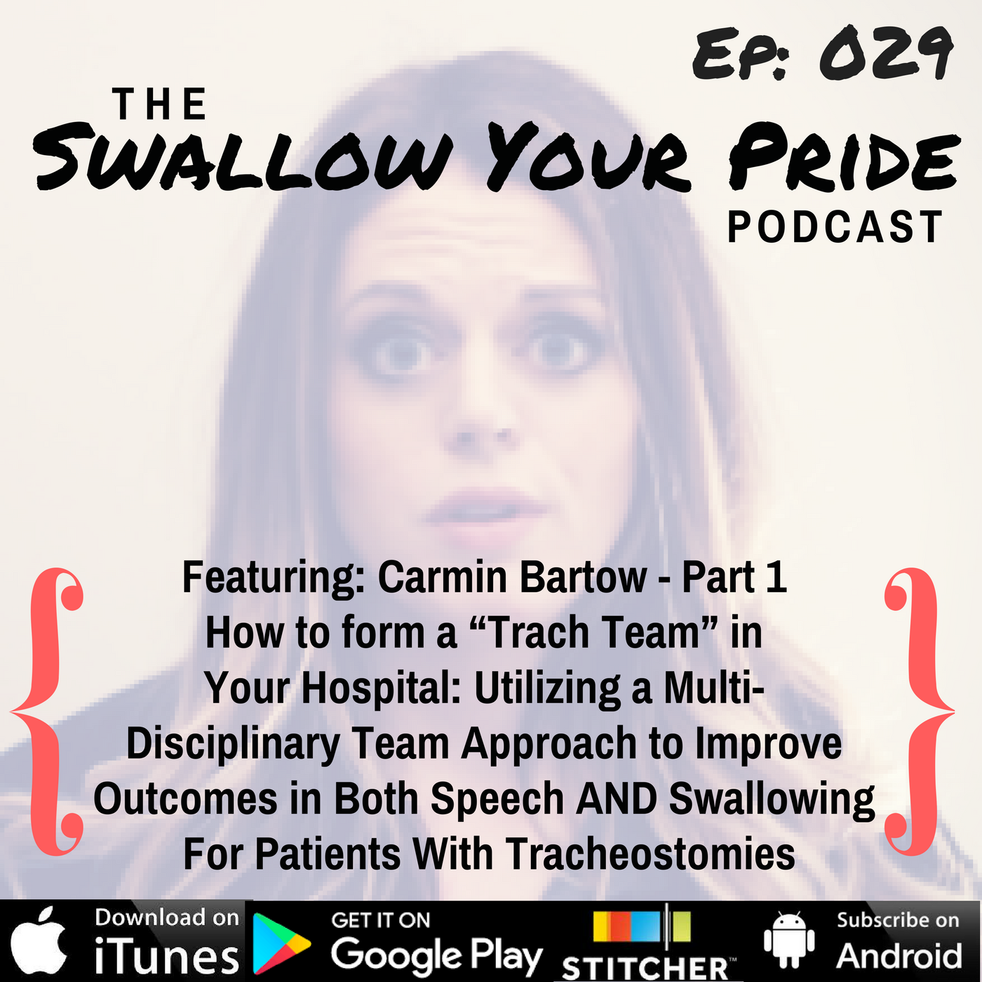 """029 – Carmin Bartow, M.S. CCC-SLP, BCS-S – Part 1 – How to Form a """"Trach Team"""" in Your Hospital: Utilizing a Multi-Disciplinary Team Approach to Improve Outcomes in Both Speech AND Swallowing For Patients With Tracheostomies"""