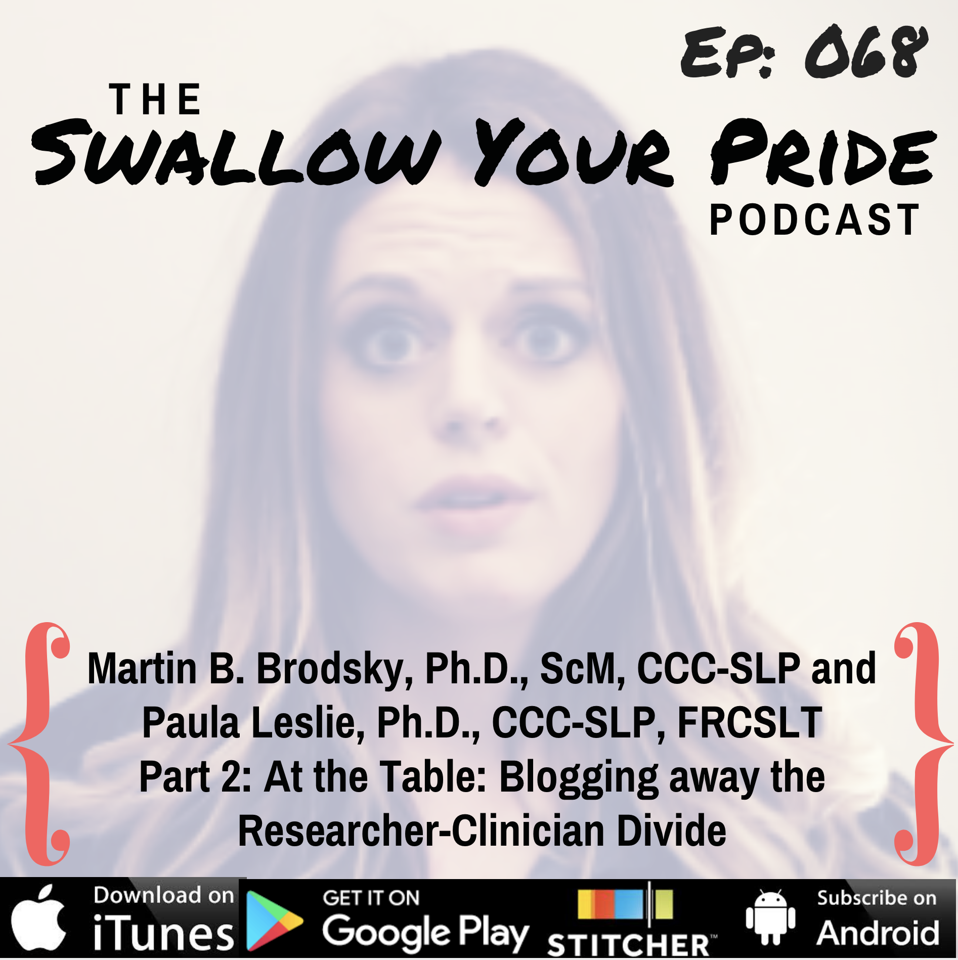 068 – Martin B. Brodsky, Ph.D., ScM, CCC-SLP and Paula Leslie, Ph.D., CCC-SLP, FRCSLT – Part 2 of At the Table: Blogging away the Researcher-Clinician Divide